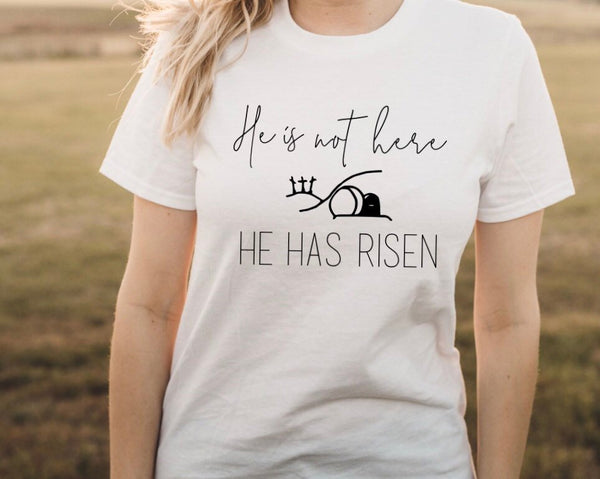 He Is Risen Shirt, Women's Easter Shirt, Easter Top, Ladies Easter Shirt, Christian Easter Shirt, He Is Risen Indeed