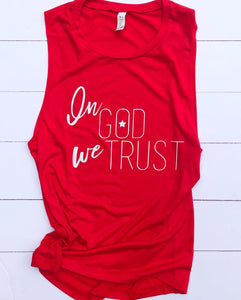 Fourth Of July Shirts //Women's Christian Graphic Tee, Christian Shirts, Christian T shirts, In God We Trust Shirt, 4th of July