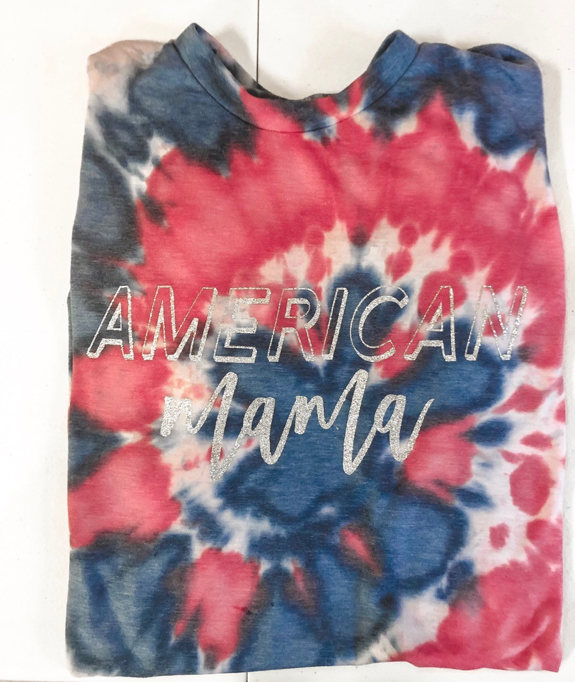 AMERICAN MAMA TIE DYED SHORT SLEEVE UNISEX T-SHIRT