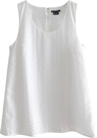 Theory Sleeveless Eyelet Top