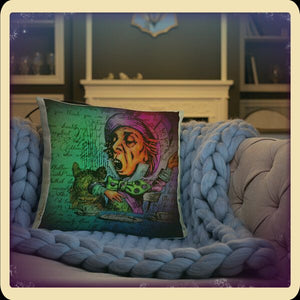 Alice In wonderland- mad hatter pillow starry Meadows