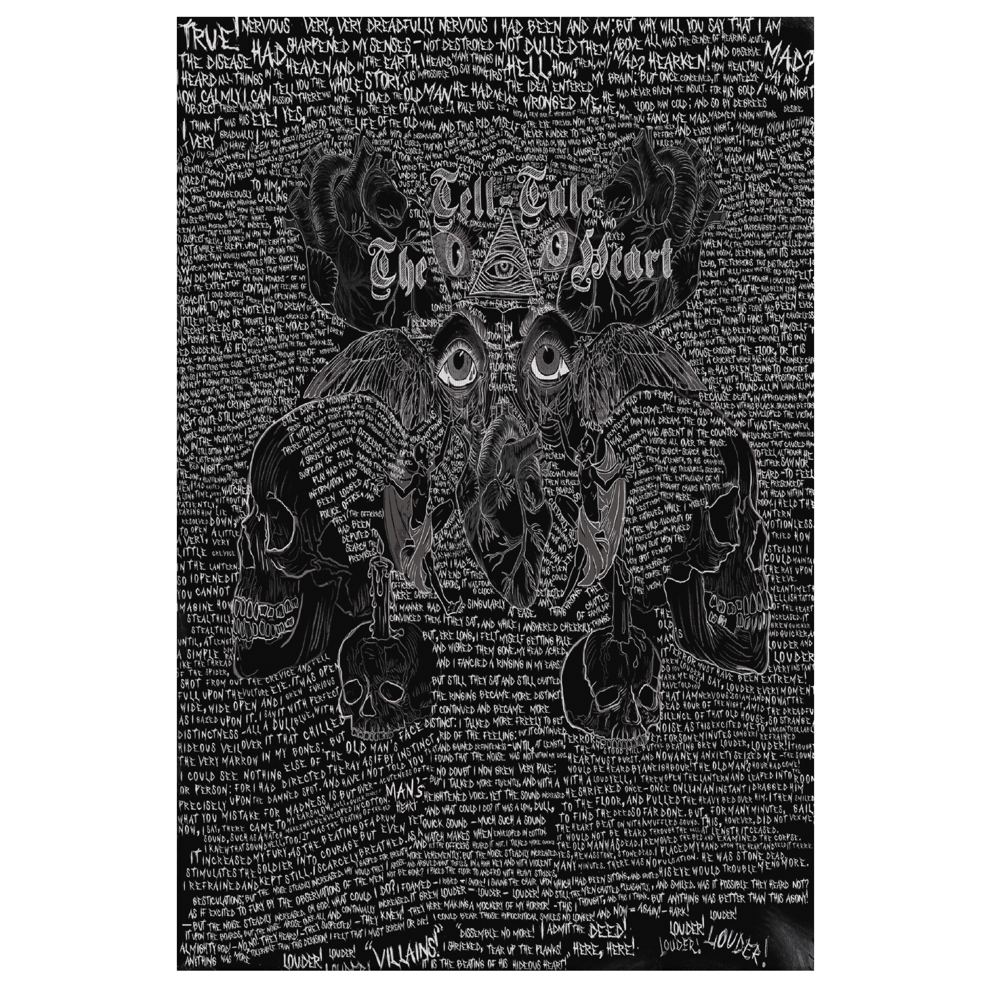 The Tell-Tale Heart Canvas Art