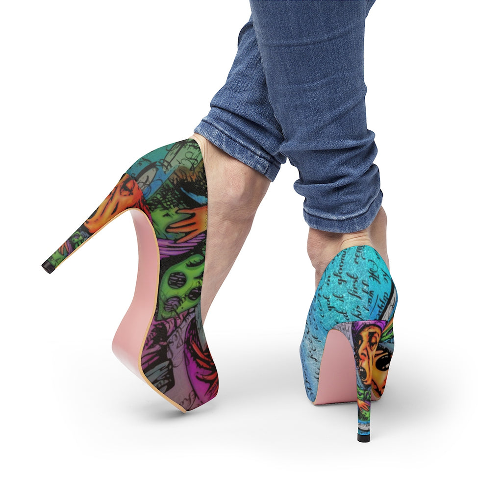Mad Hatter Stiletto Pumps-Starry Meadows