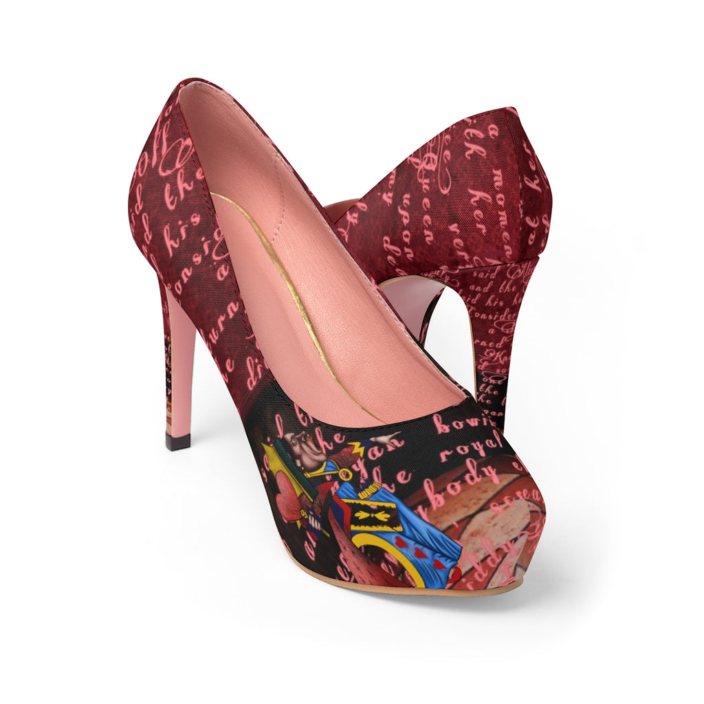 Queen of Hearts Stiletto Pumps-Starry Meadows