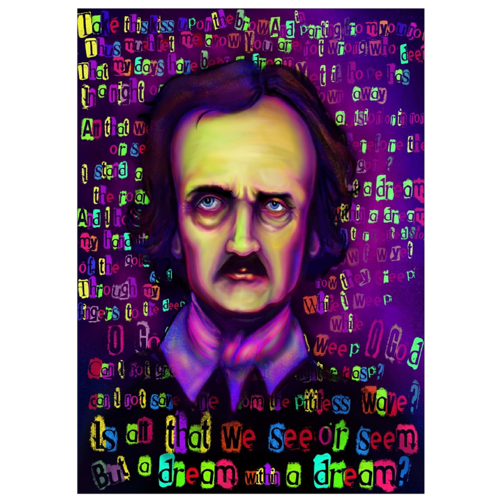 Dream Within a Dream Edgar Allan Poe Art Print