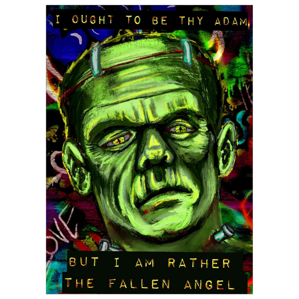 Frankenstein's Creation Art Print