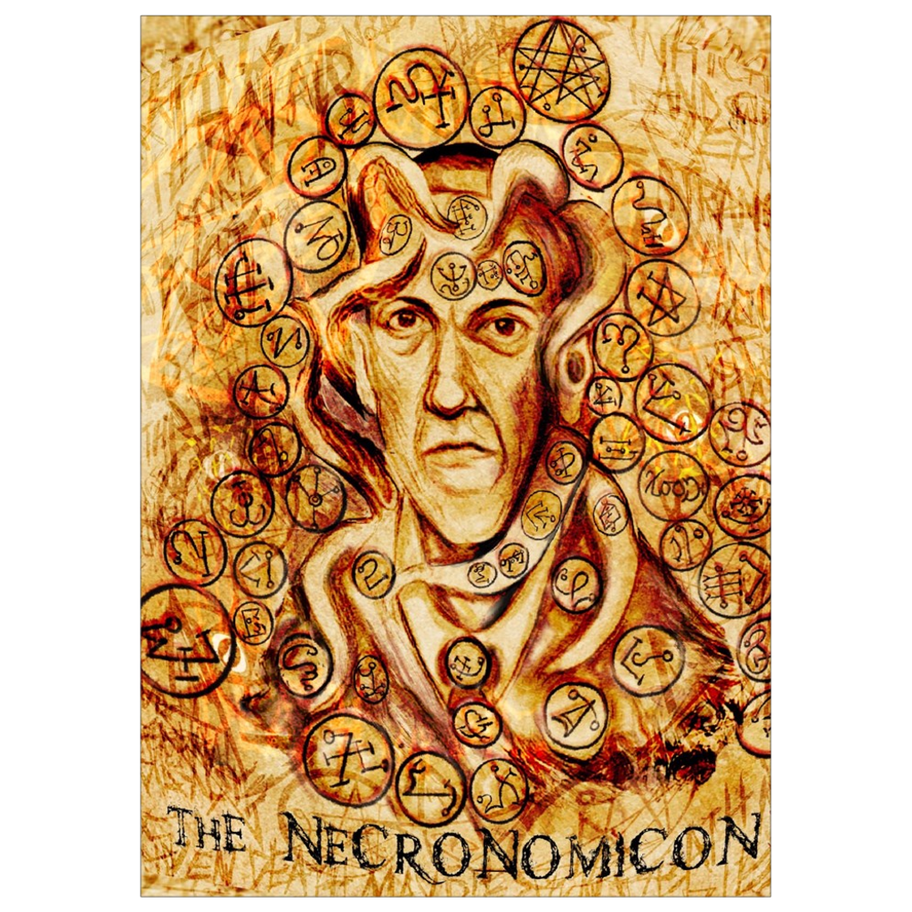 H.P. Lovecraft Necronomicon Art Print