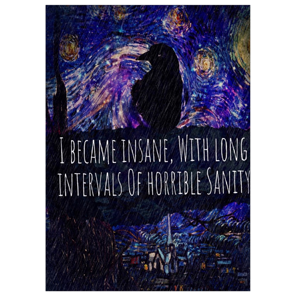 Insane Raven Art Print