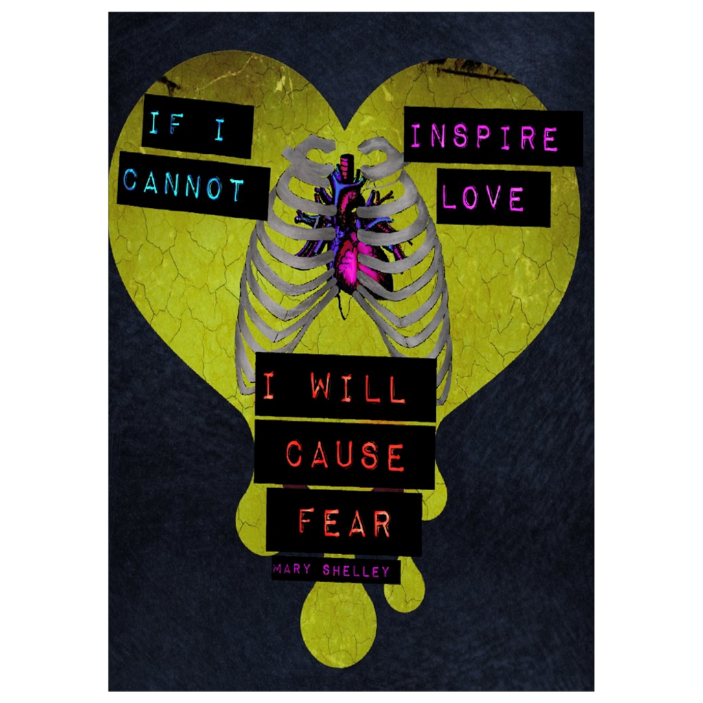 Love & Fear Frankenstein Hearts  Art Print