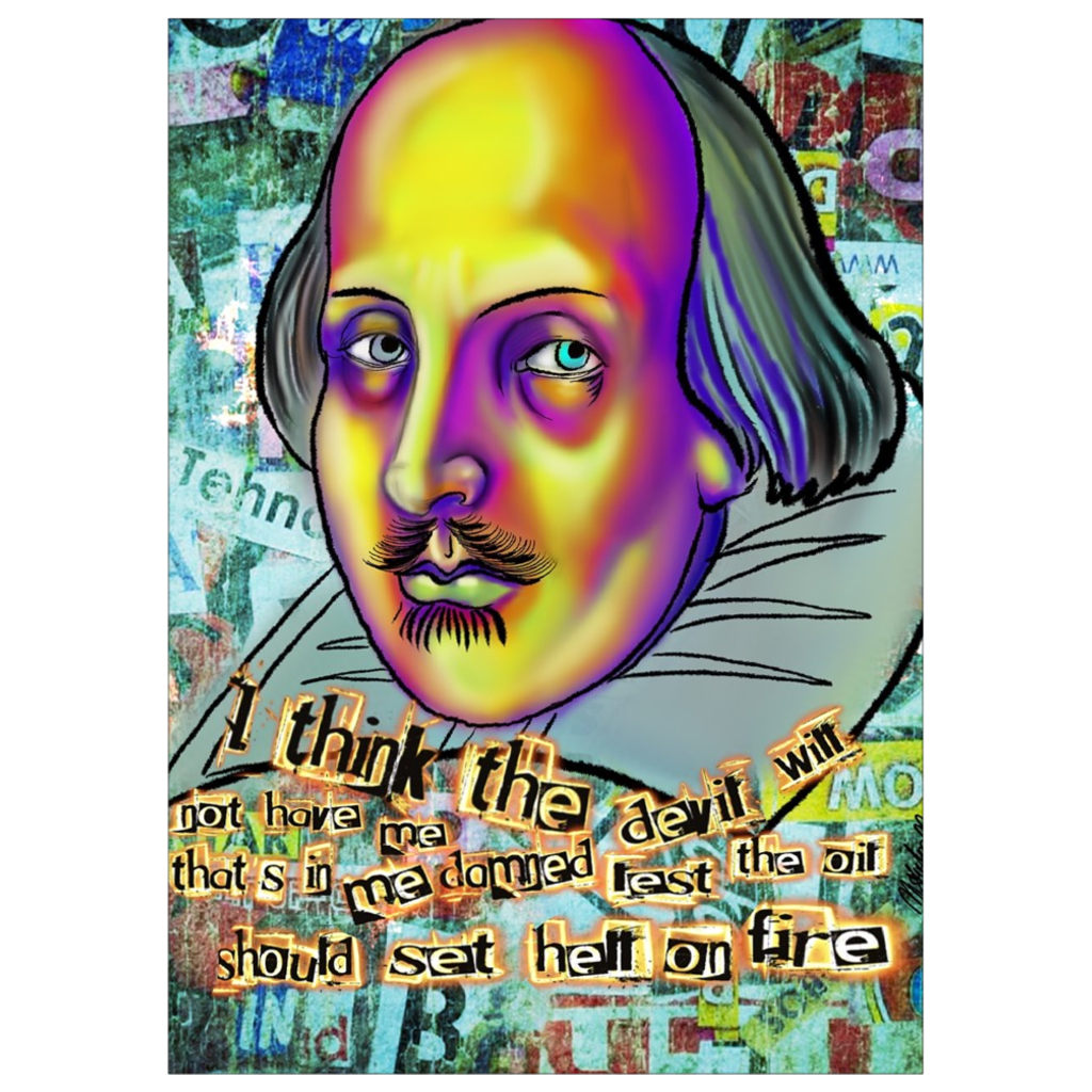"Shakespeare Quotes ""Hell"" Art Print"
