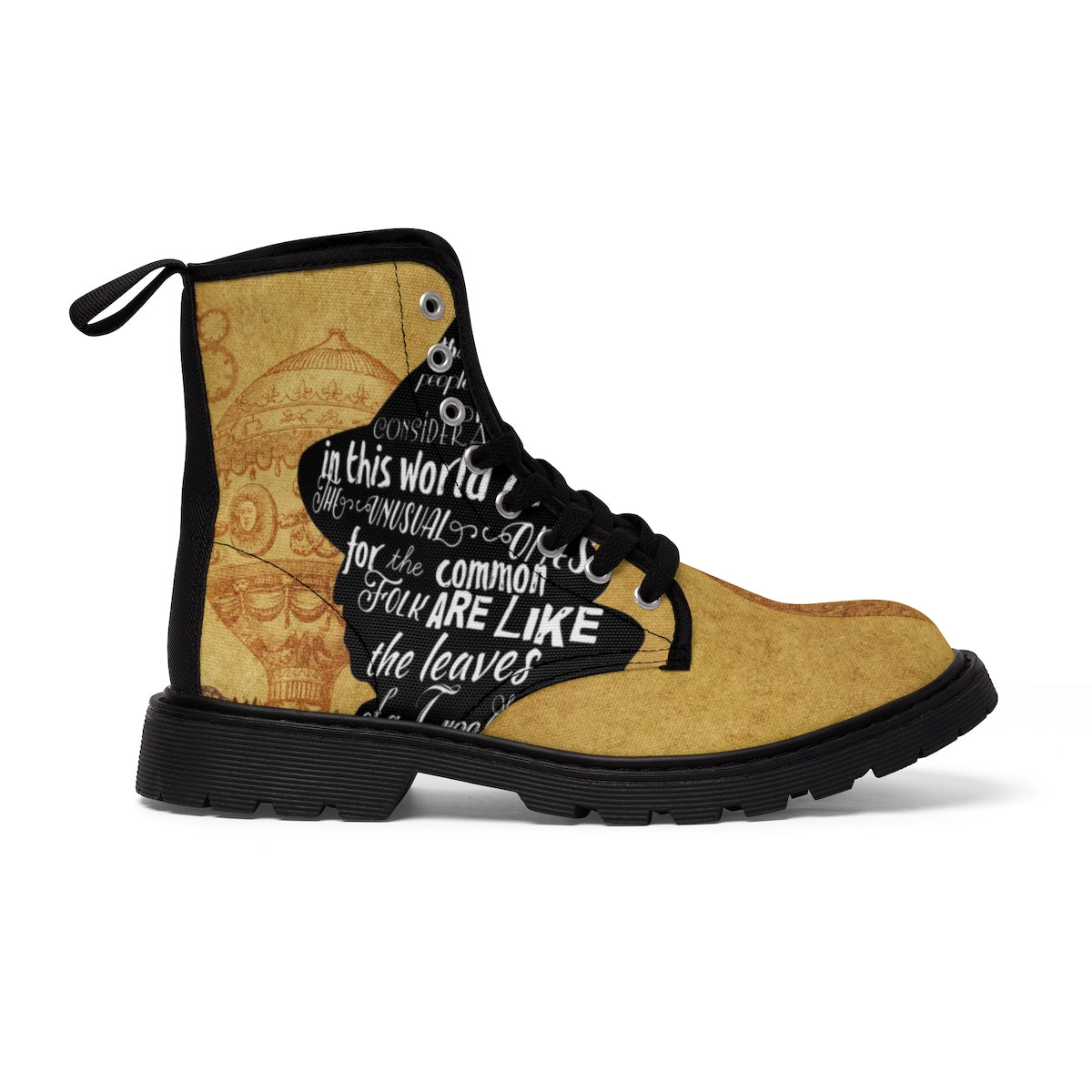 Land Of Oz Scarecrow Quote Women's Canvas Boots-Starry Meadows