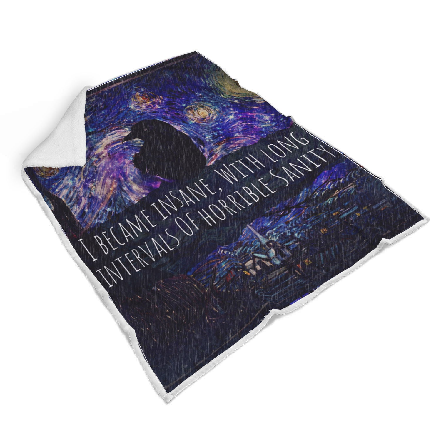 Starry Raven Sherpa Blanket-Starry Meadows