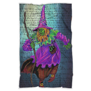 Wicked Witch Sherpa Blanket-Starry Meadows