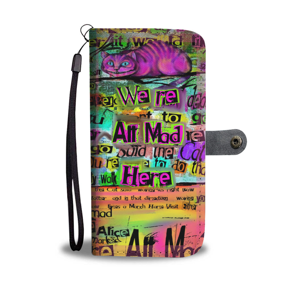 "Cheshire Cat ""Mad"" Phone Wallet-Starry Meadows"