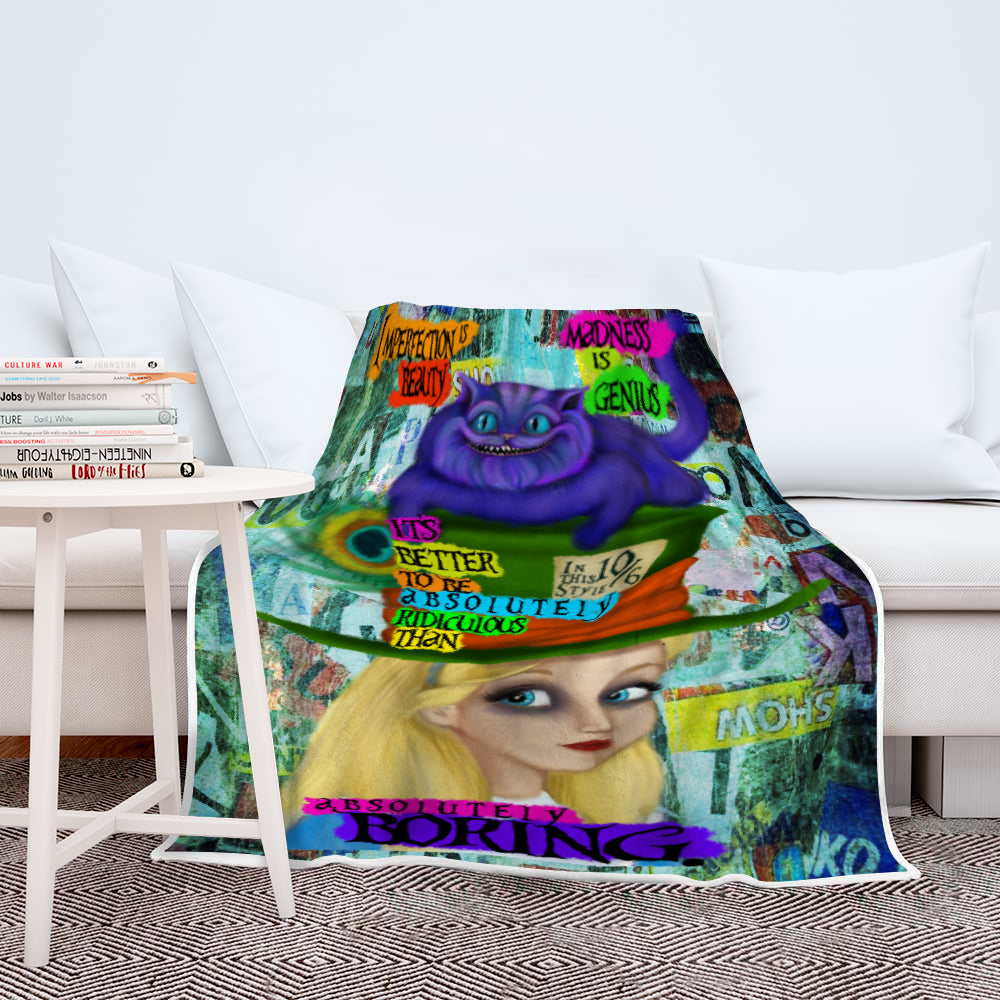 Madness is Genius Alice Sherpa Blanket-Starry Meadows