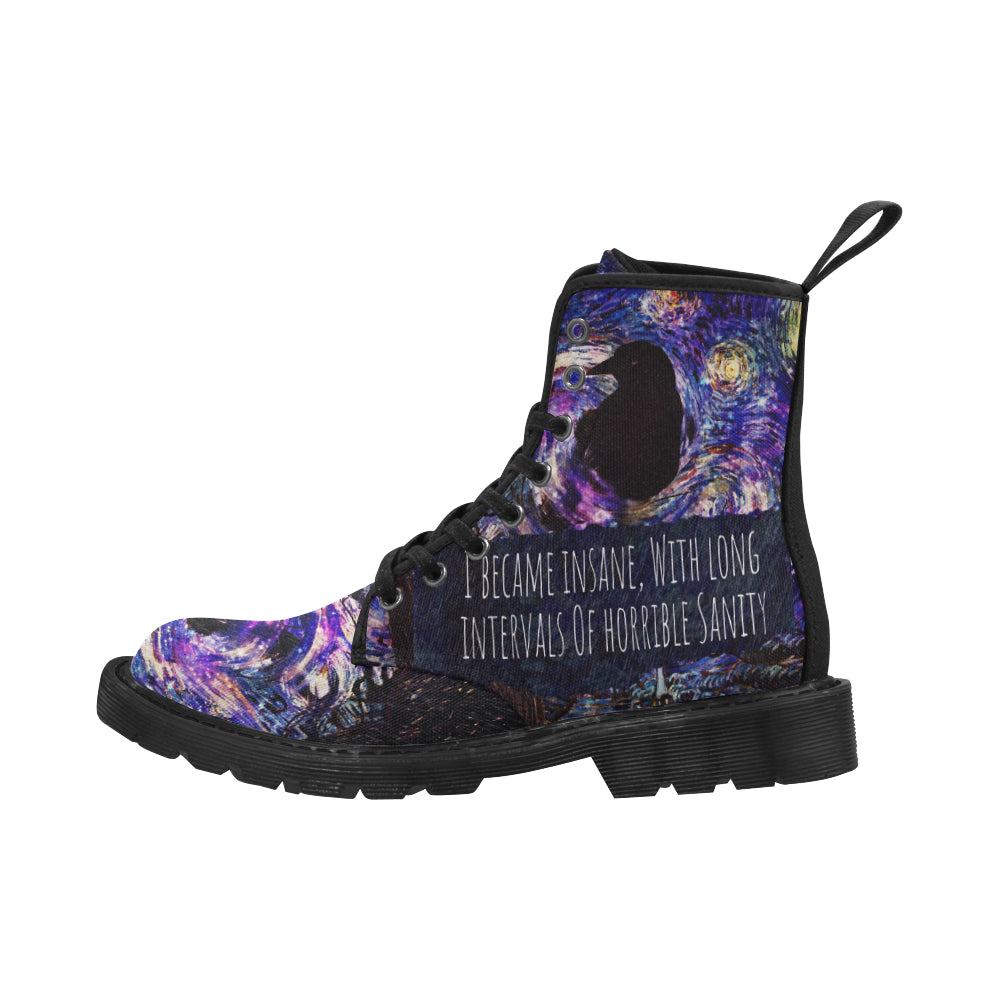 Insane Raven Men's Canvas Boots-Starry Meadows