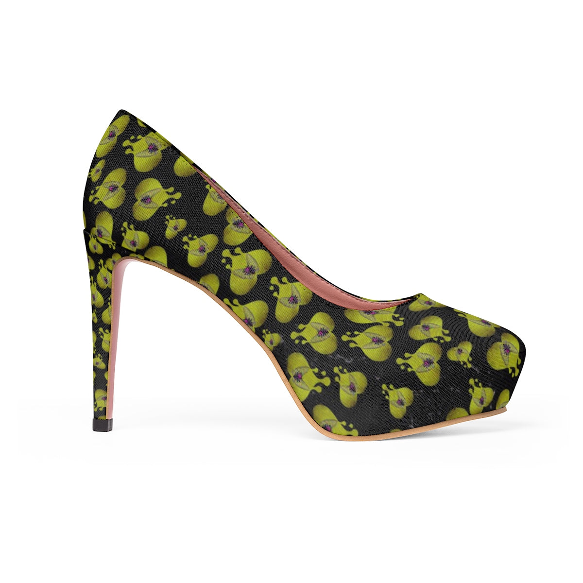 "Frankenstein ""Hearts"" Stiletto Pumps-Starry Meadows"
