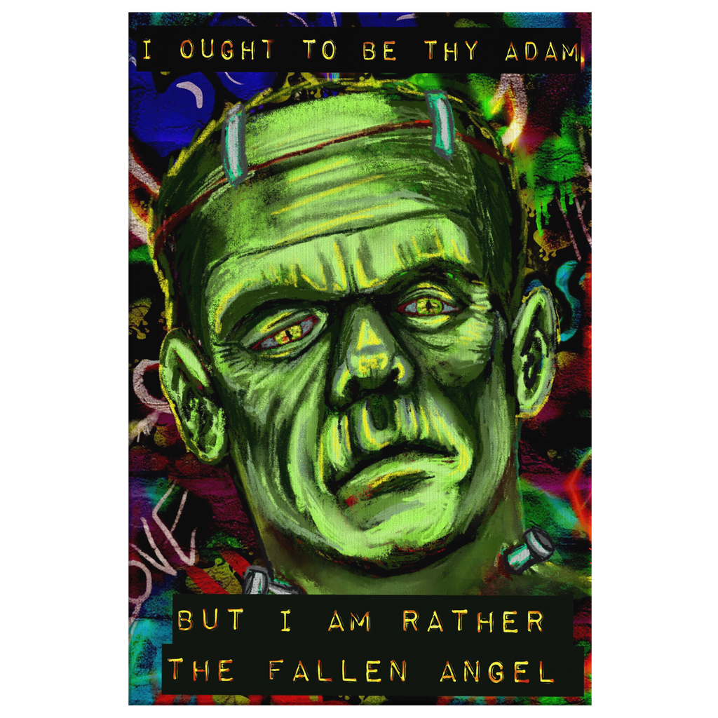 Frankenstein's Creation Canvas Art
