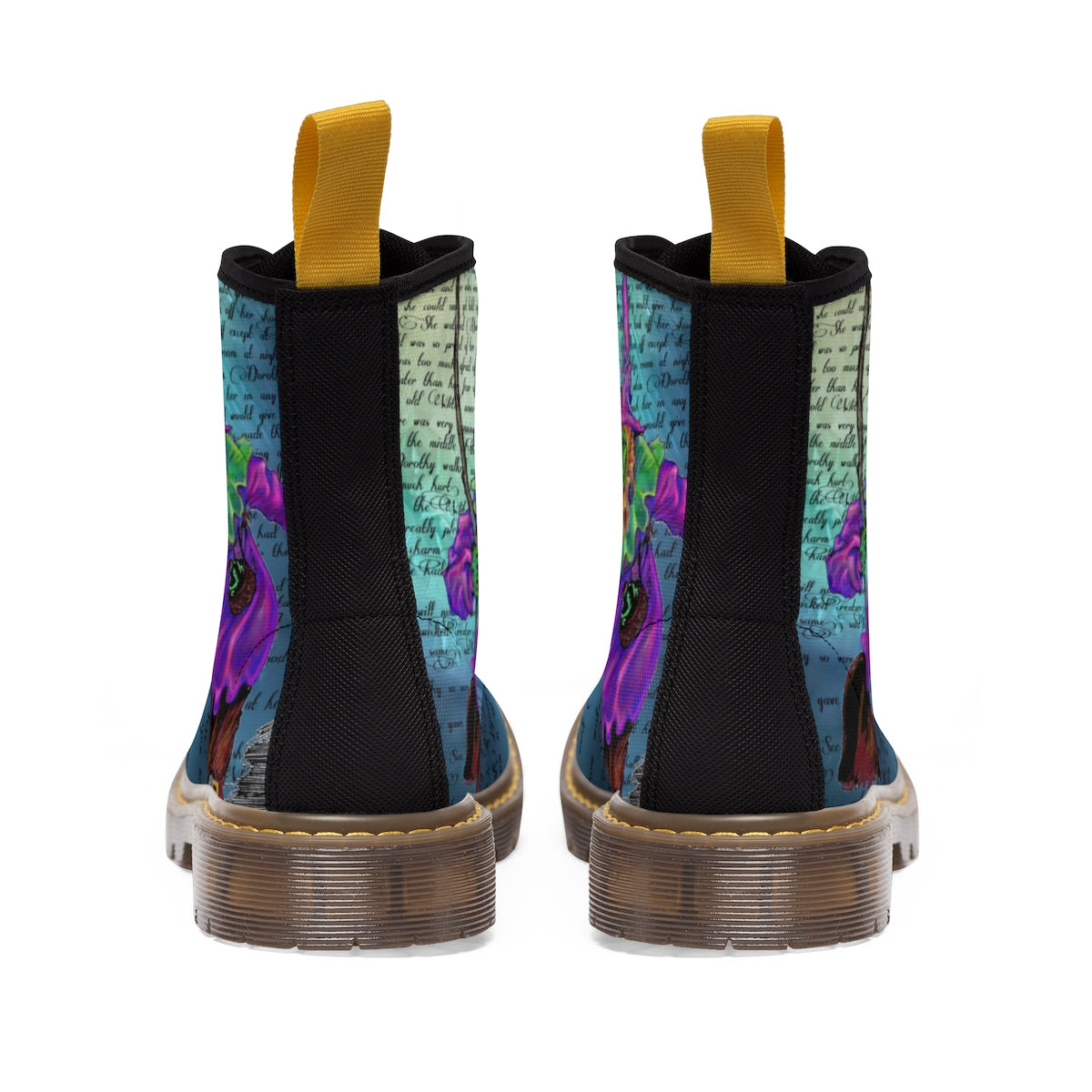 Wicked Witch Men's Canvas Boots-Starry Meadows