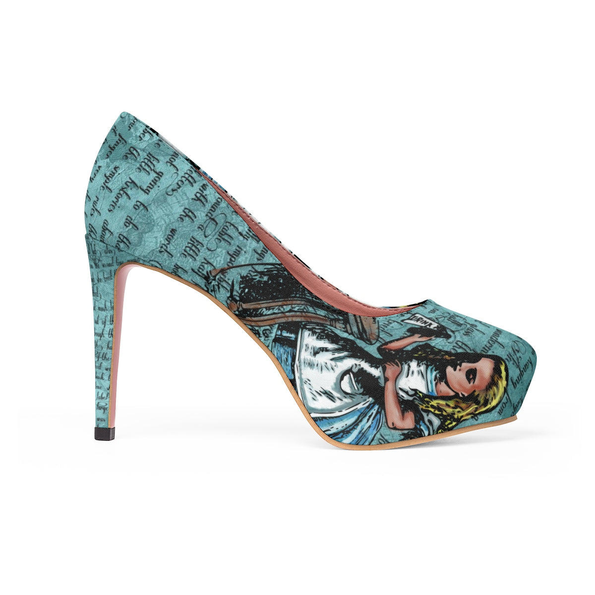 "Alice ""Drink Me"" Stiletto Pumps-Starry Meadows"