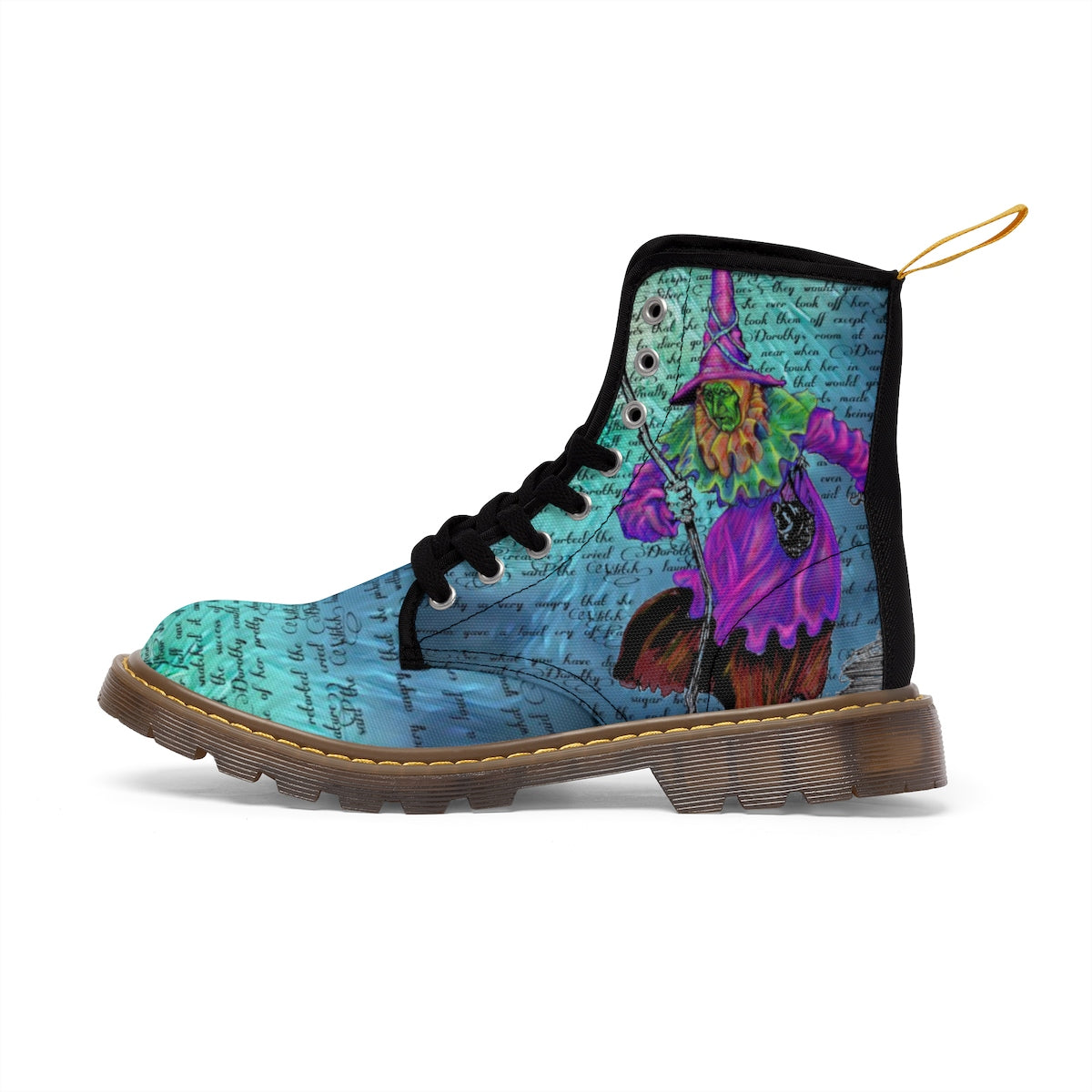 Wicked Witch Women's Canvas Boots-Starry Meadows