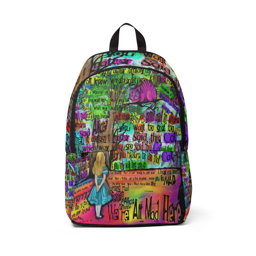 "Cheshire Cat ""Mad"" Backpack-Starry Meadows"