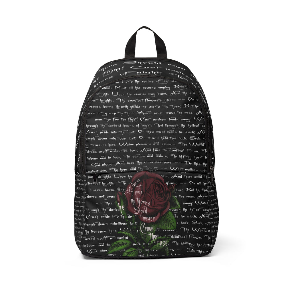 Grasp the Thorns Anne Brontë Backpack-Starry Meadows