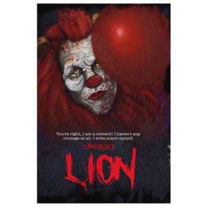 "Cowardly Lion ""Horror"" Canvas Art"
