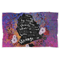 Cowardly Lion Sherpa  Blanket-Starry Meadows