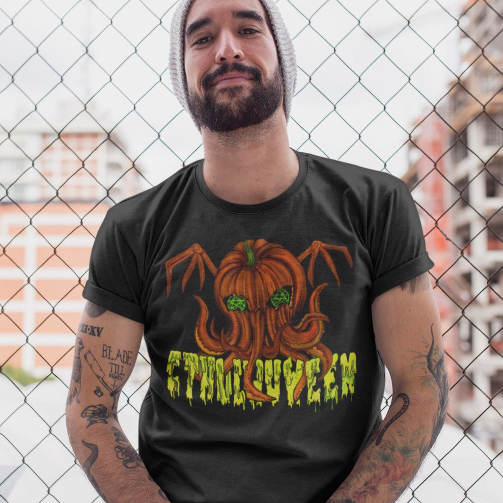 Cthulhuween Unisex T-Shirt-Starry Meadows