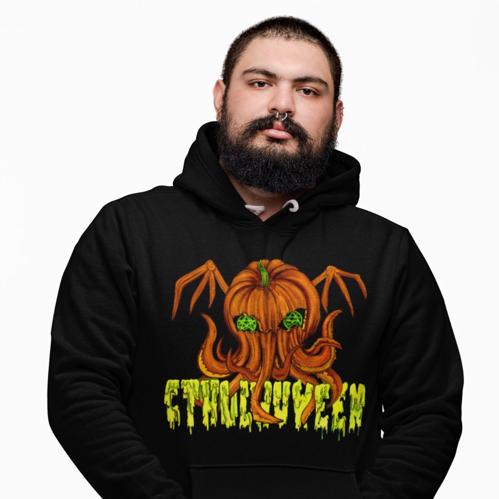 Cthulhuween Hooded Sweatshirt-Starry Meadows