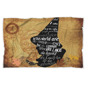 Land of Oz Scarecrow Quote Sherpa Blanket-Starry Meadows