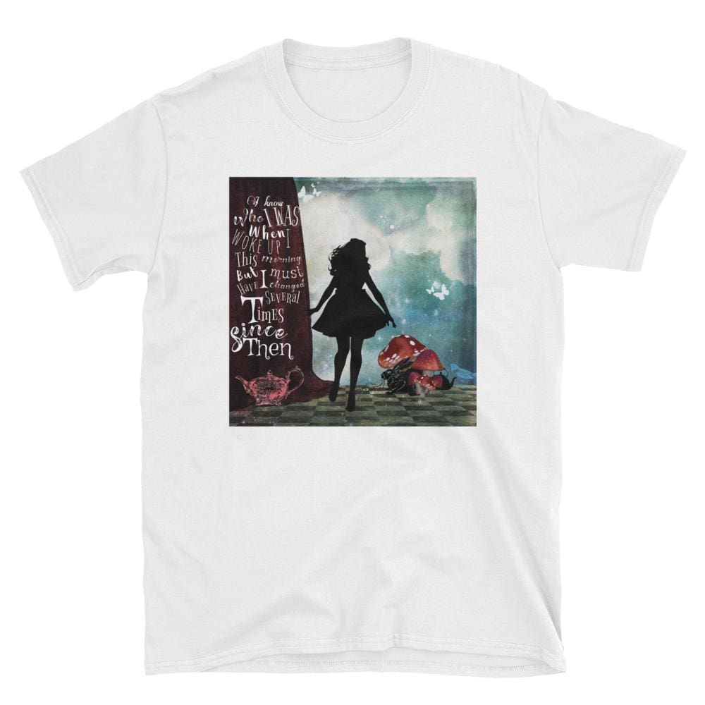 Alice's Adventures In Wonderland Quote Short-Sleeve Unisex T-Shirt-Starry Meadows