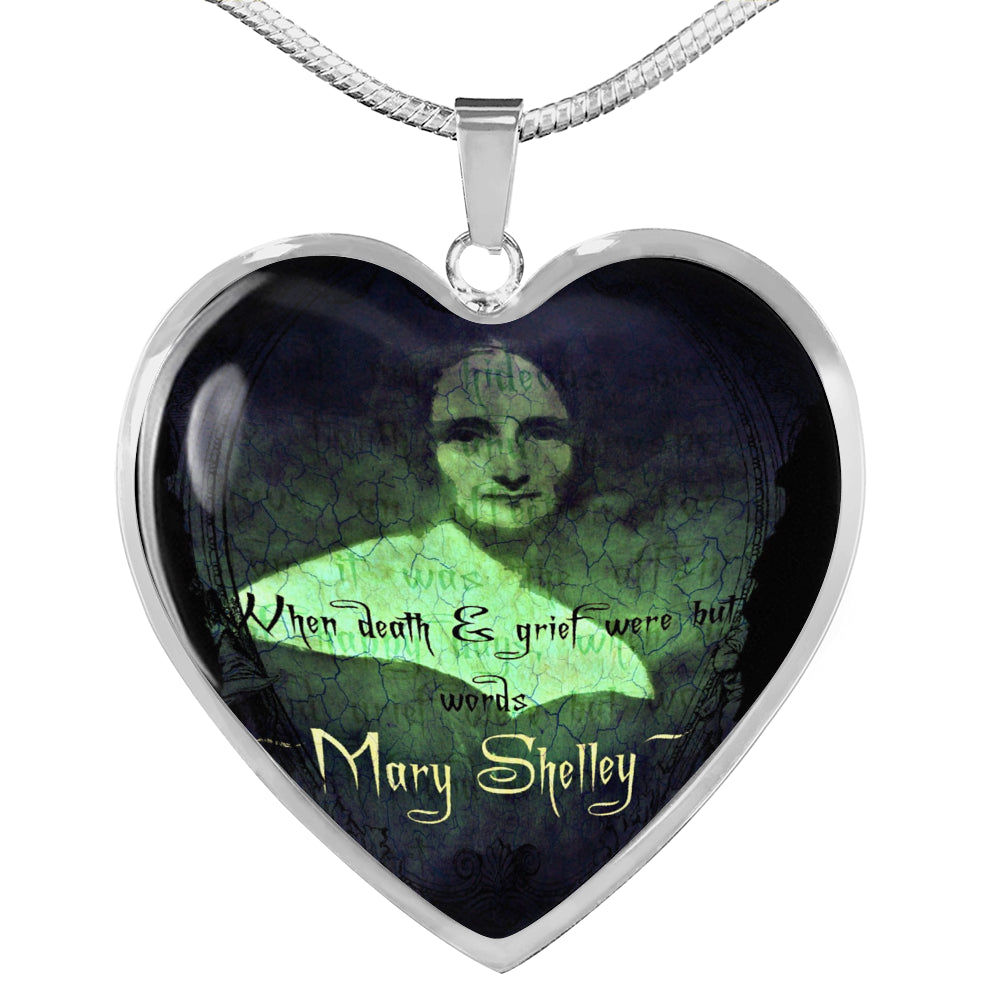 Mary Shelley Heart Pendant