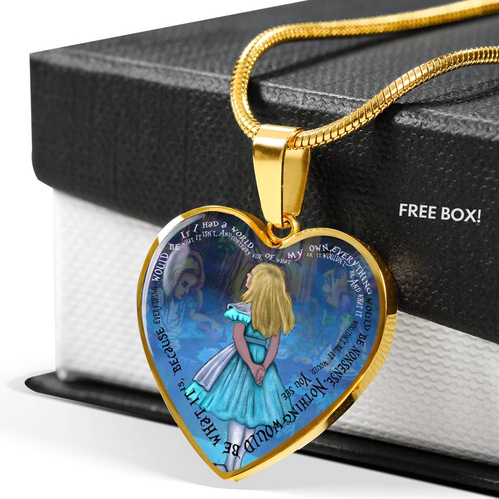 If I Had A World Of My Own Alice Heart Pendant