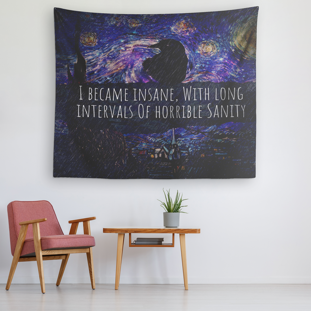 Insane Raven Tapestry-Starry Meadows