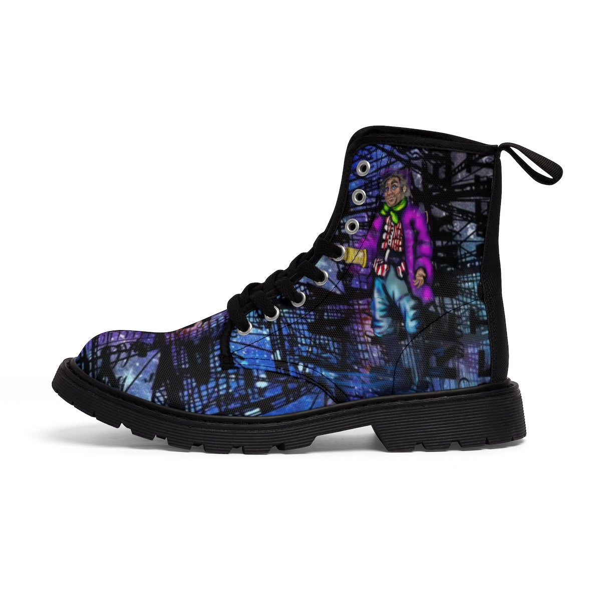 Captain Hook & Smee Men's Canvas Boots-Starry Meadows