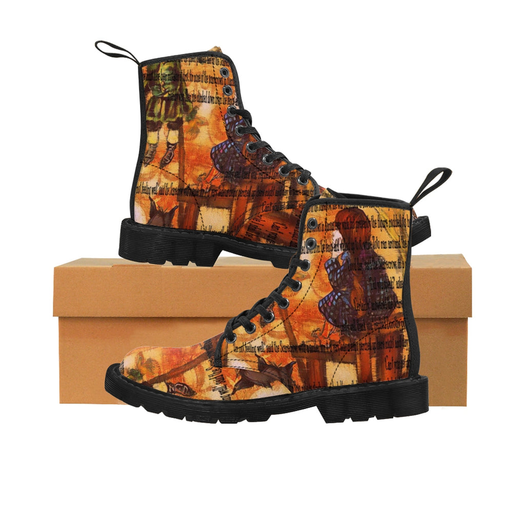 Wizard Of Oz Men's Canvas Boots-Starry Meadows