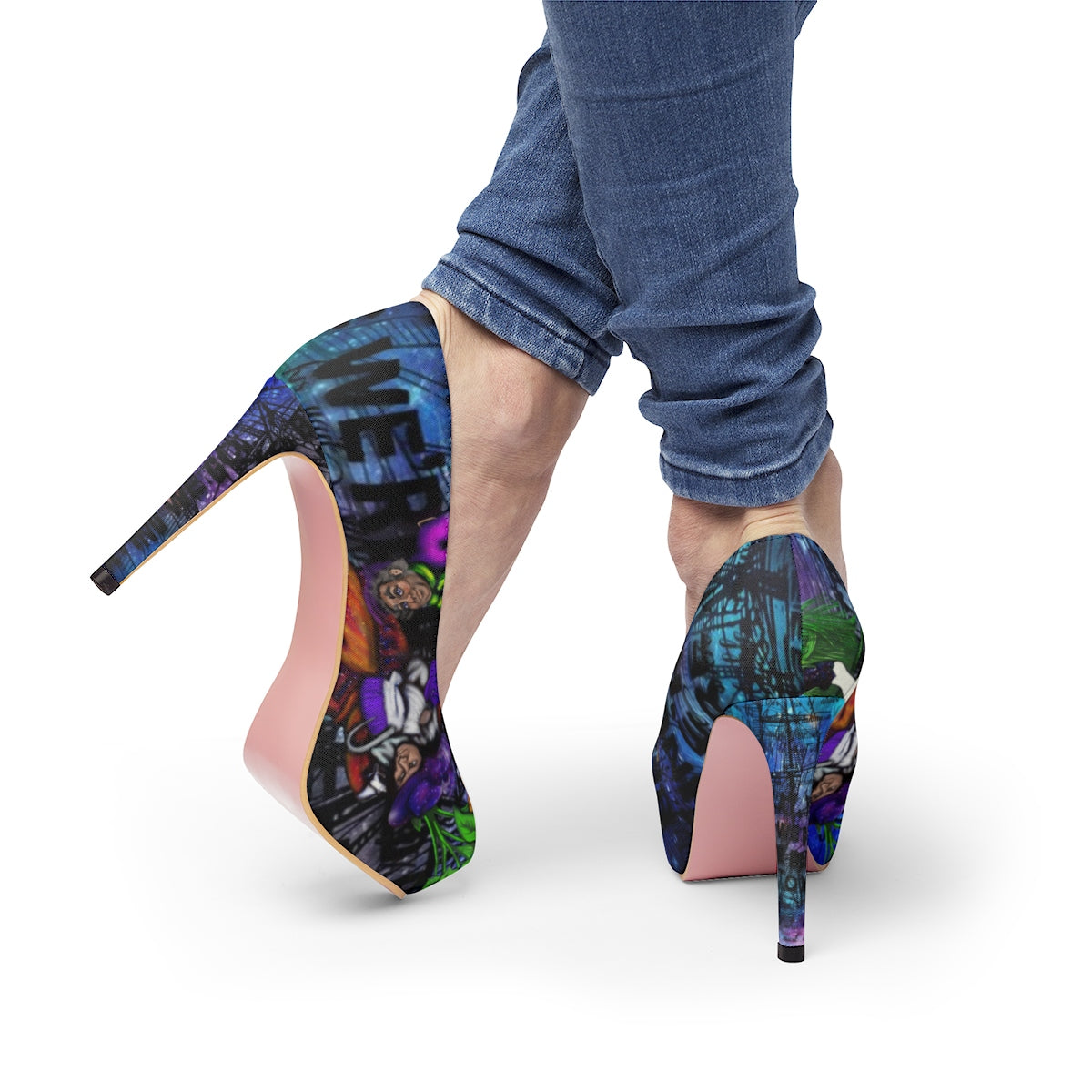 Captain Hook & Smee Stiletto Pumps-Starry Meadows