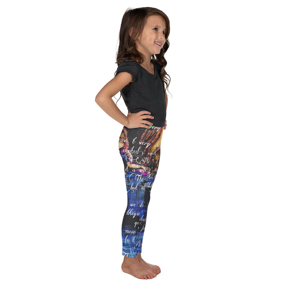 Alice's Adventures in Wonderland Tea Party Kids Leggings-Starry Meadows