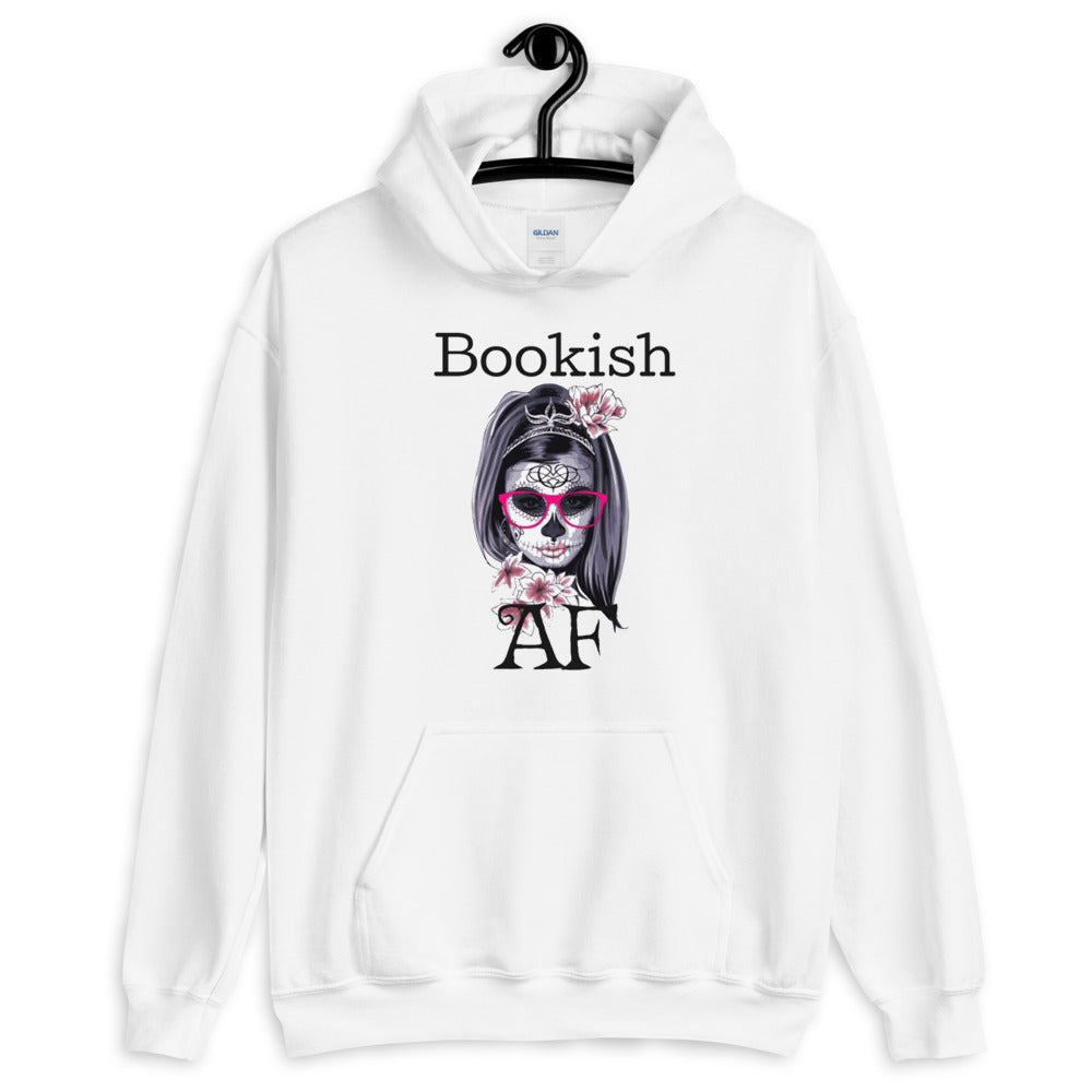 Bookish AF Hooded Sweatshirt-Starry Meadows
