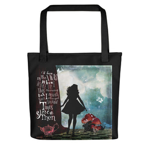 Alice's Adventures In Wonderland Quote Tote bag-Starry Meadows