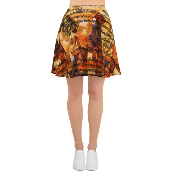 Wizard of Oz Skater Skirt-Starry Meadows