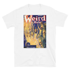 Weird Tales Hallowe'en in a Suburb Lovecraft Unisex T-Shirt-Starry Meadows