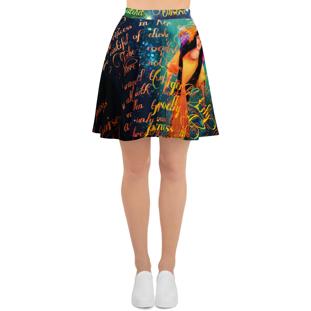 Tiger Lily Skater Skirt-Starry Meadows