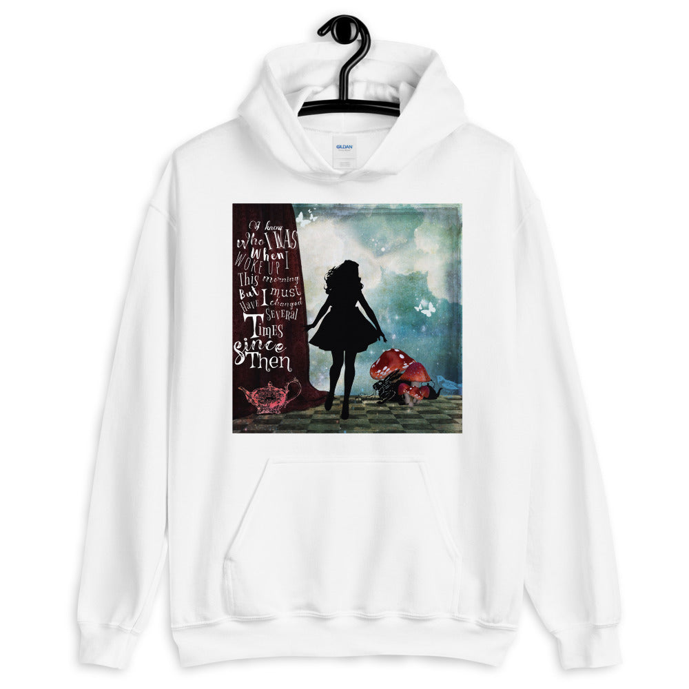 Alice's Adventures Quote Hooded Sweatshirt-Starry Meadows
