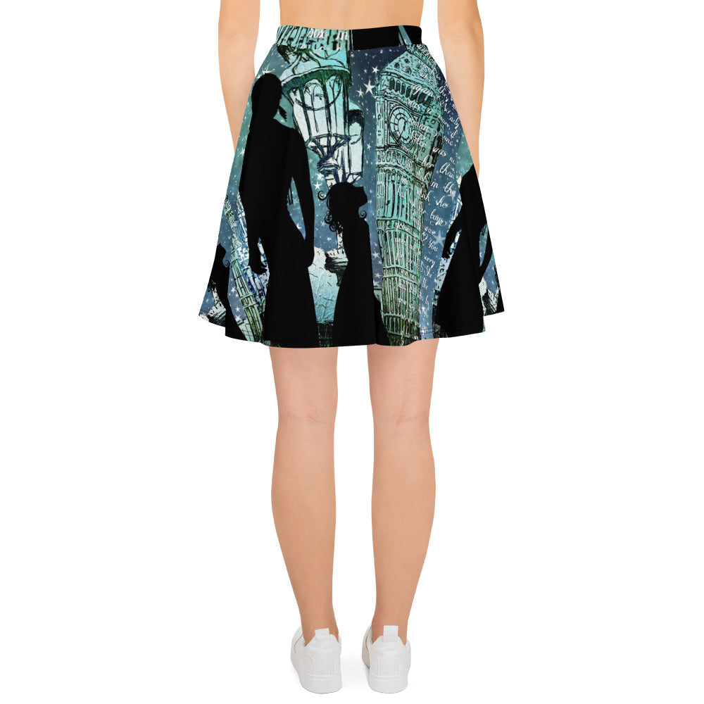 Peter Pan Wendy Grew Up Skater Skirt-Starry Meadows