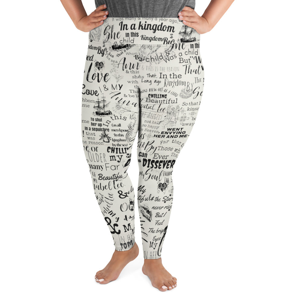 Poe's Annabel Lee Plus Size Leggings-Starry Meadows