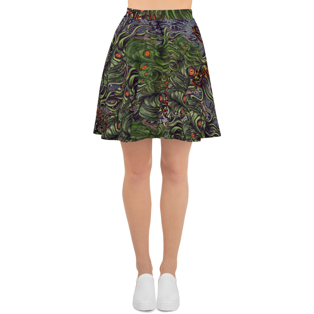 Cthulhu Skater Skirt-Starry Meadows