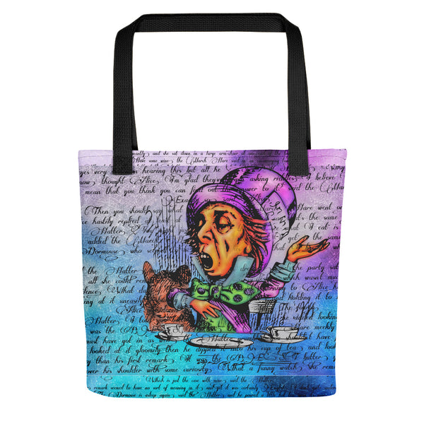 Spacey Hatter Tote bag-Starry Meadows